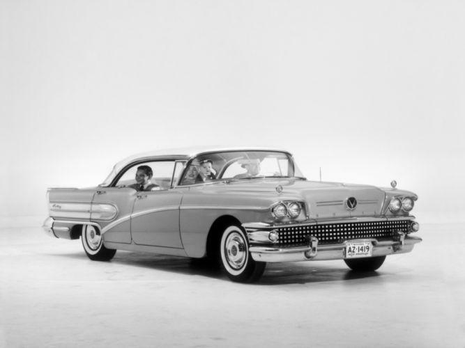 1958 Buick Century Riviera Hardtop Sedan retro wallpaper