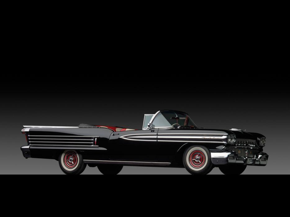 1958 Oldsmobile 98 Convertible (3067DX) retro 9-8 wallpaper