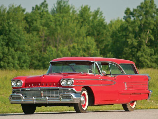1958 Oldsmobile Dynamic 88 Fiesta Holiday StationWagon (3695) retro 8-8 g wallpaper