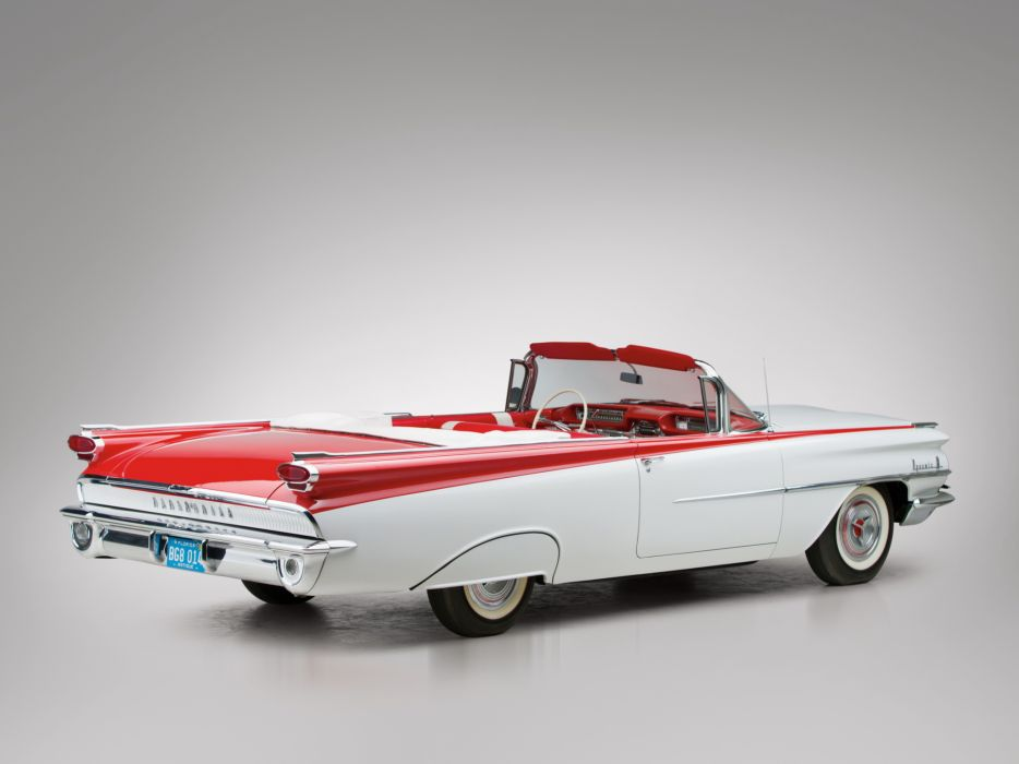 1959 Oldsmobile Dynamic 88 Convertible (3267) retro 8-8  f wallpaper