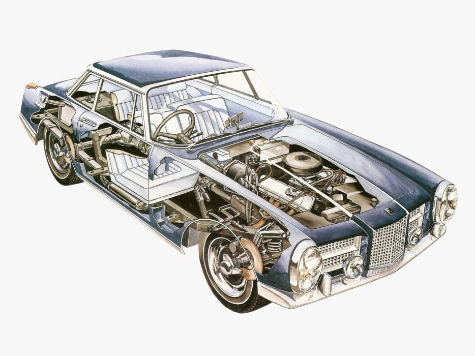 1964 Facel Vega Facel-II UK-spec classic supercar interior engine     g wallpaper