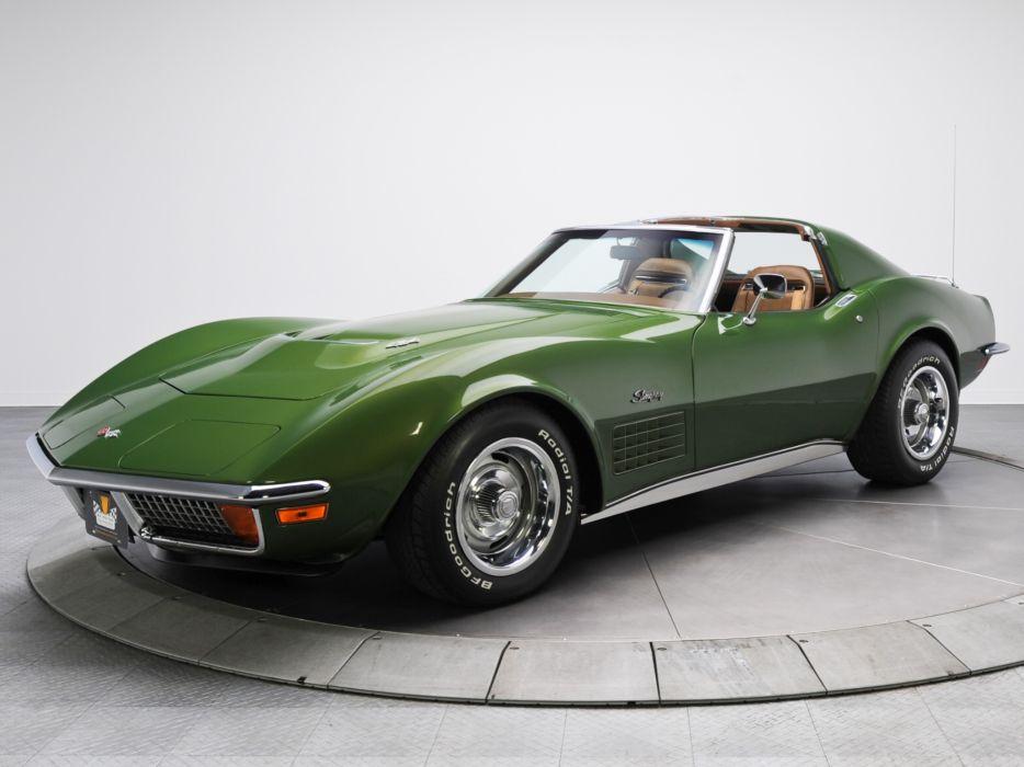 1970 Chevrolet Corvette Stingray 454 (C3) supercar muscle classic   rq wallpaper