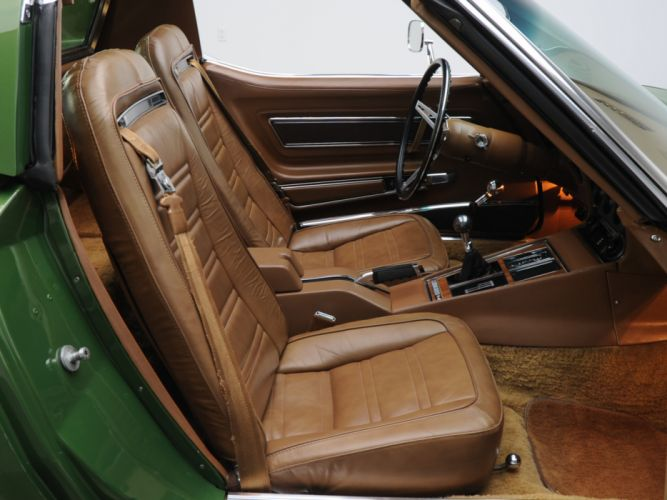 1970 Chevrolet Corvette Stingray 454 (C3) supercar muscle classic interior f wallpaper