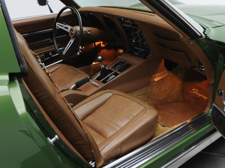 1970 Chevrolet Corvette Stingray 454 (C3) supercar muscle classic interior  r wallpaper