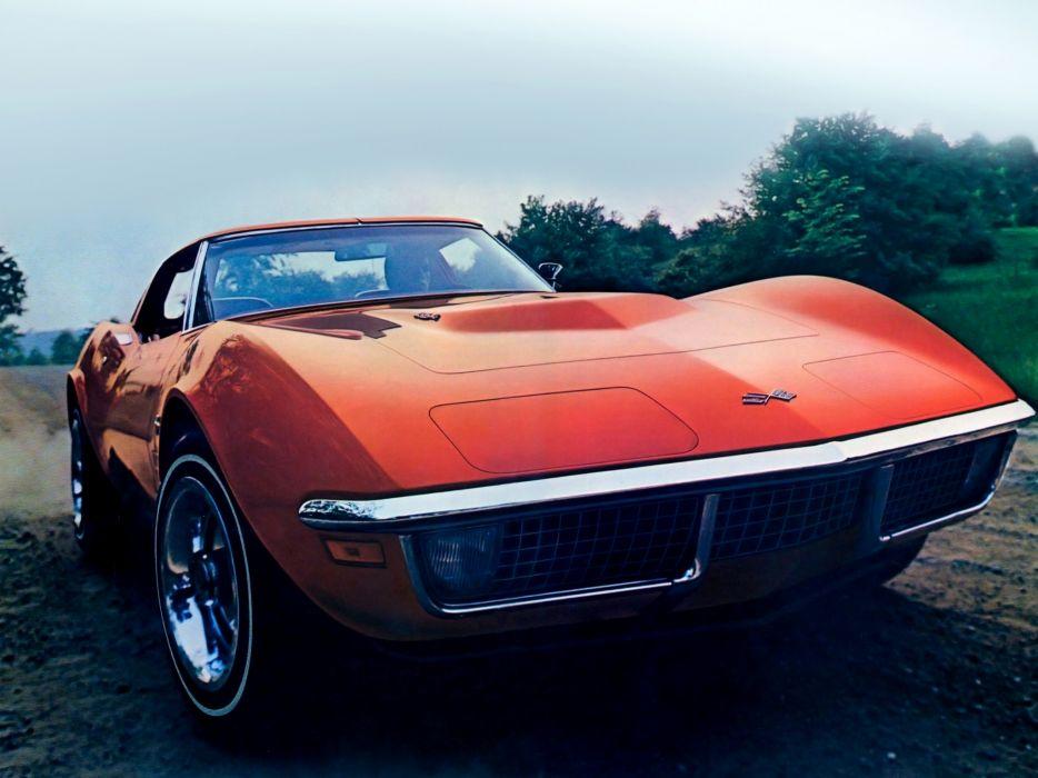 1971 Chevrolet Corvette Stingray 454 C3 Supercar Muscle Classic T Wallpaper