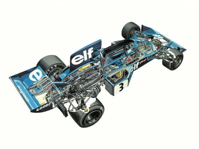 1977 Tyrrell 007 formula f-1 race racing interior engine h wallpaper