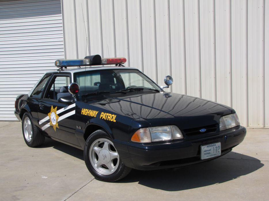 1992 Ford Mustang SSP Police muscle emergency   gf wallpaper