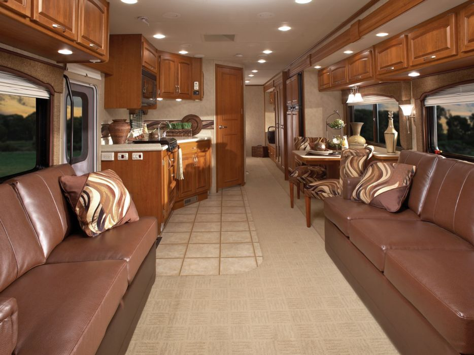 2009 Monaco Monarch motorhome camper semi tractor interior     h wallpaper