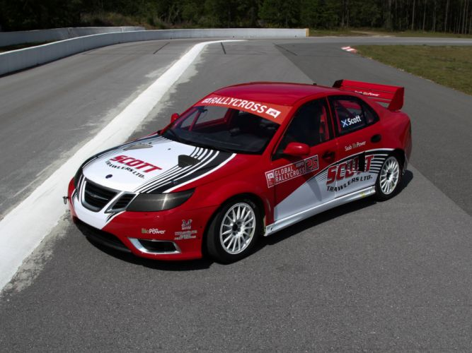 2010 Saab 9-3 Rallycross race racing w wallpaper