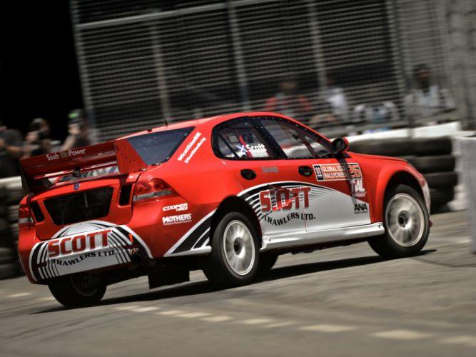 2010 Saab 9-3 Rallycross race racing wallpaper