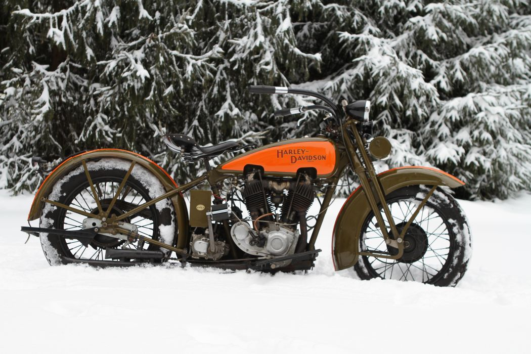 1929 Harley Davidson JDH Classic 2 Cam Motorcycle retro wallpaper