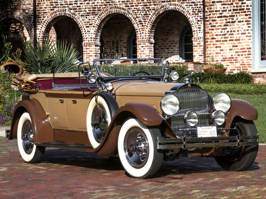 1929 Packard Custom Eight Dual Cowl Phaeton (640-341) luxury retro     h wallpaper