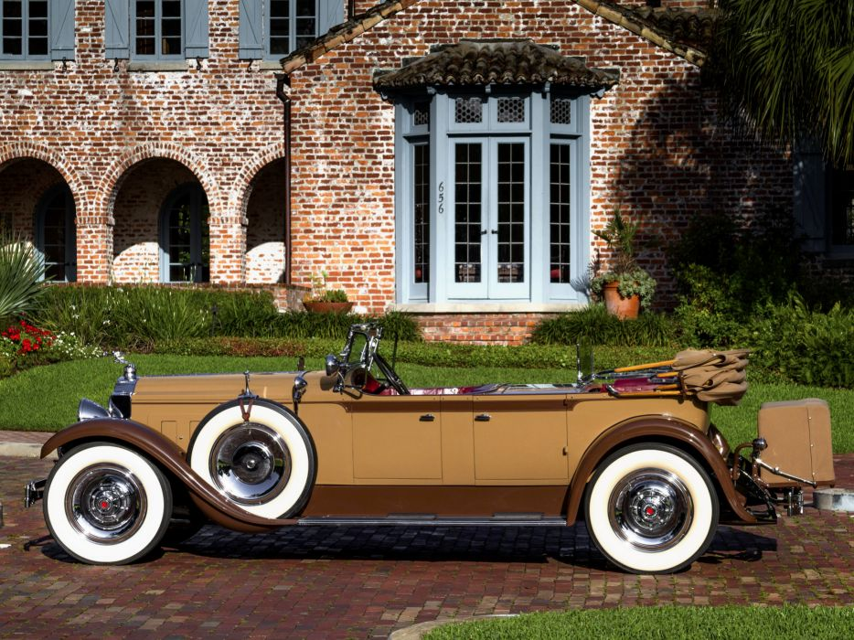 1929 Packard Custom Eight Dual Cowl Phaeton (640-341) luxury retro  f wallpaper