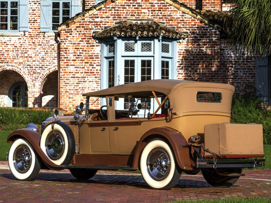 1929 Packard Custom Eight Dual Cowl Phaeton (640-341) luxury retro  r wallpaper