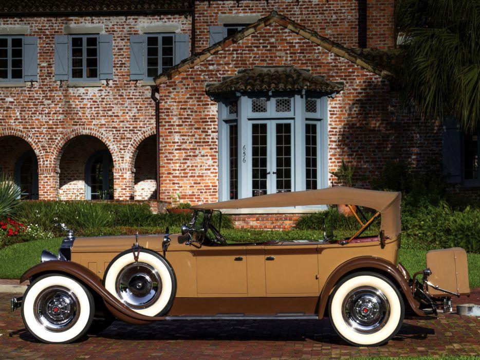 1929 Packard Custom Eight Dual Cowl Phaeton (640-341) luxury retro  v wallpaper