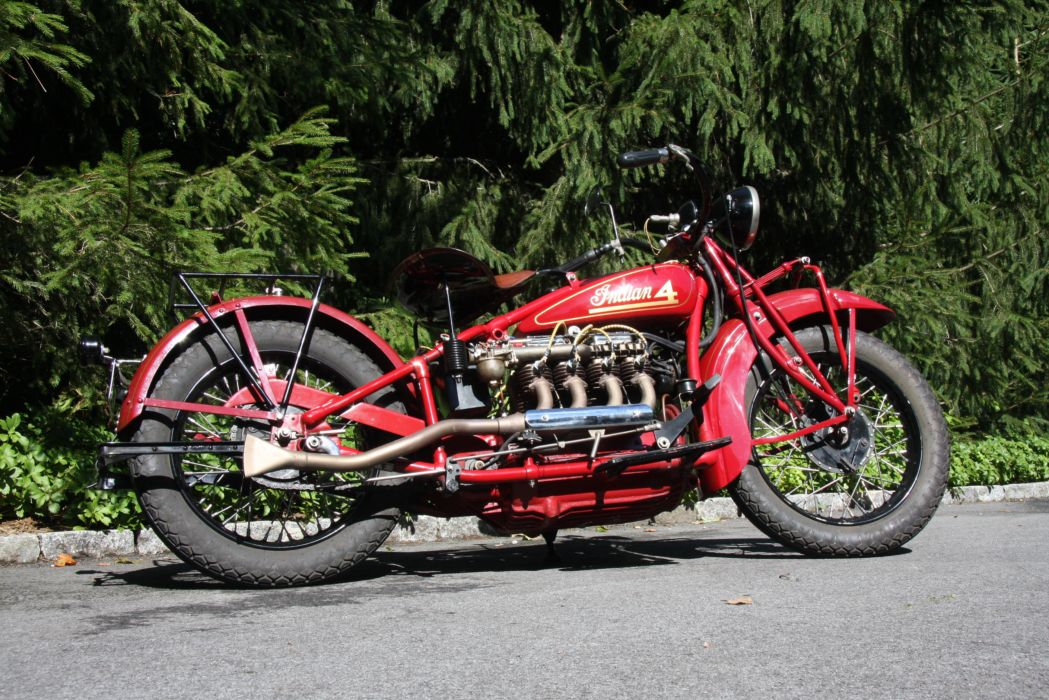 1930 Indian Four Motorcycle retro engine wallpaper