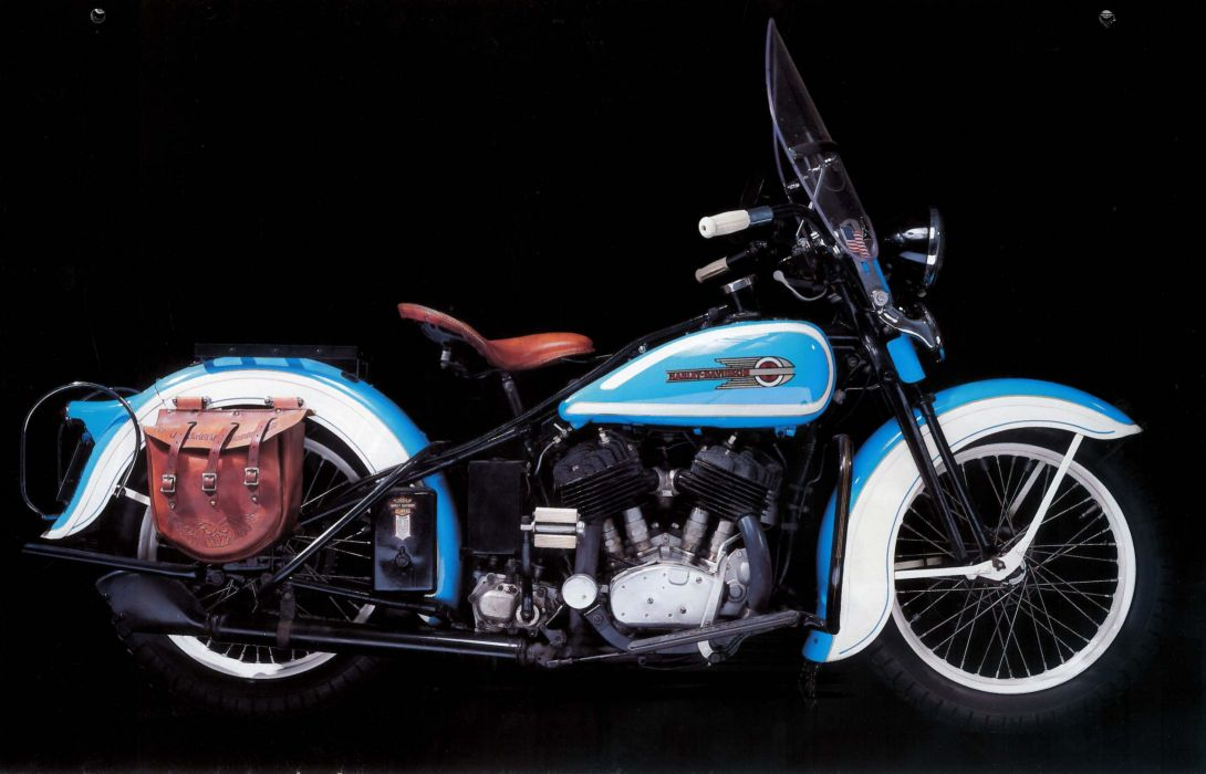 1936 Harley Davidson VLH retro wallpaper