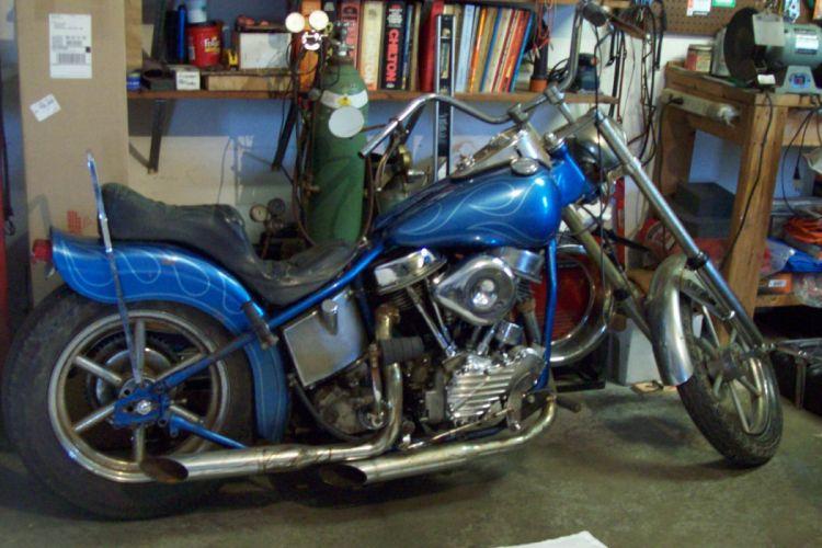 1950 Harley Davidson Panhead chopper retro h wallpaper