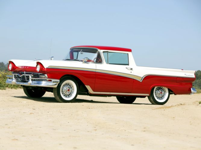 1957 Ford Ranchero Custom 300 pickup retro wallpaper