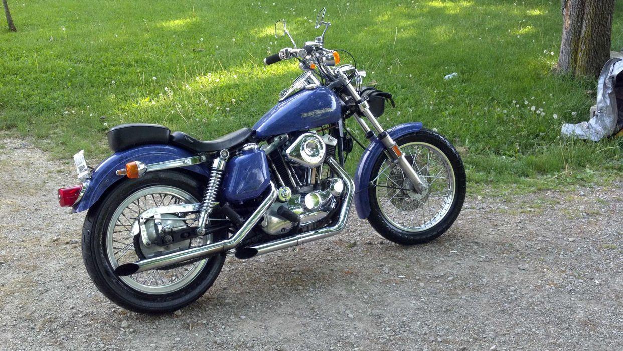 1975 harley davidson sportster 1000cc wallpaper