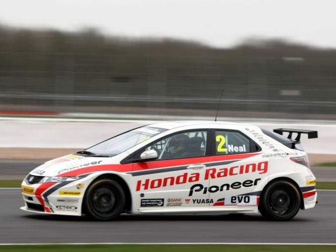 2009 Honda Civic BTCC race racing t wallpaper