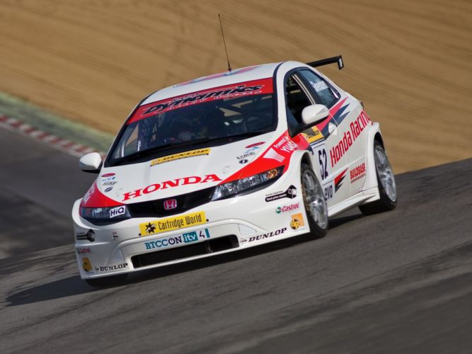 2009 Honda Civic BTCC race racing h wallpaper
