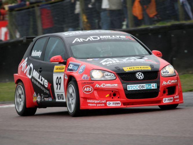 2010 Volkswagen Golf BTCC race racing d wallpaper