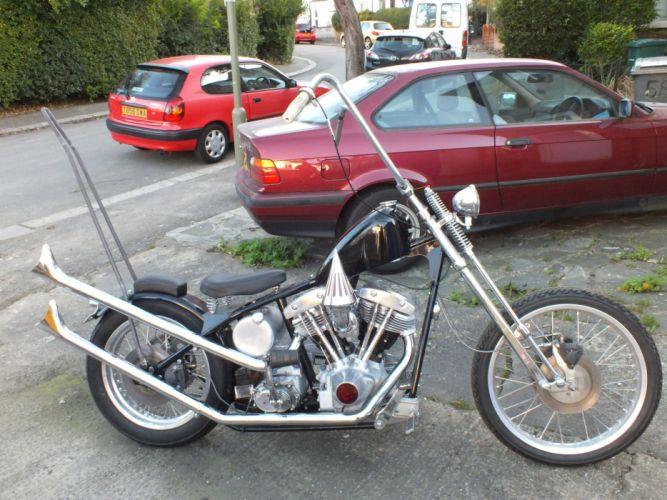 Harley Davidson Shovelhead chopper wallpaper