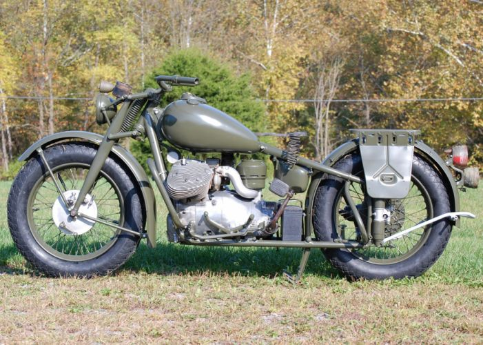 Indian Model 841 military retro f wallpaper