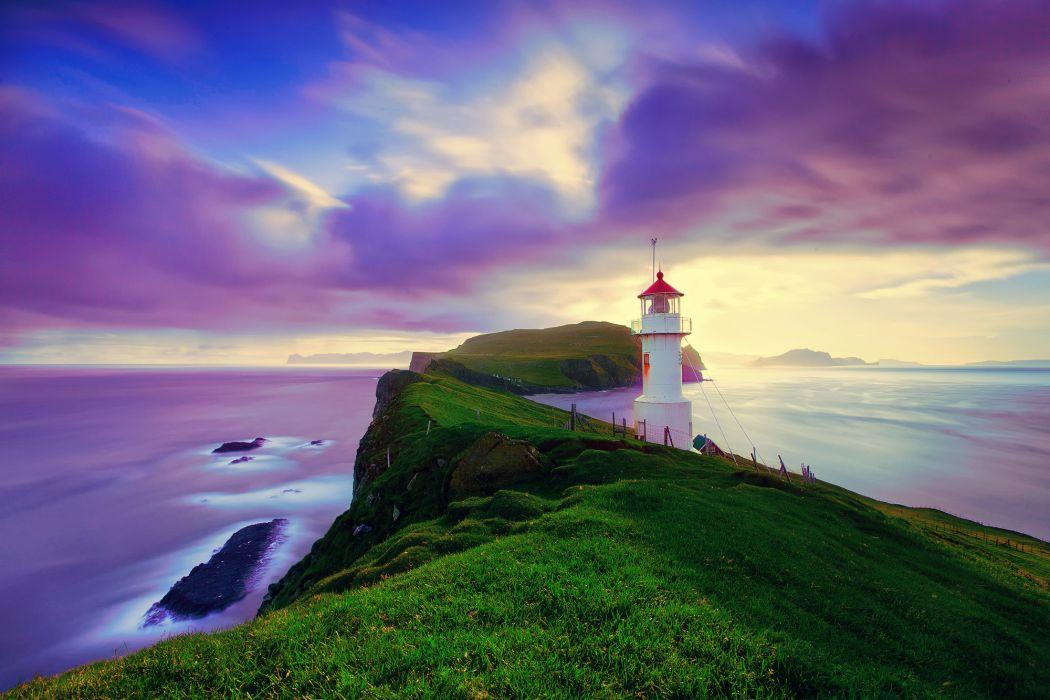 Faroese archipelago Iceland wallpaper