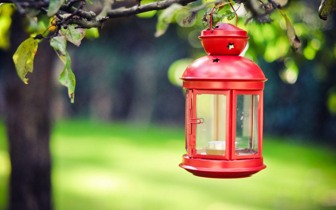 lantern red candle lamp wallpaper