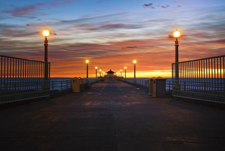 lights sun usa california wallpaper