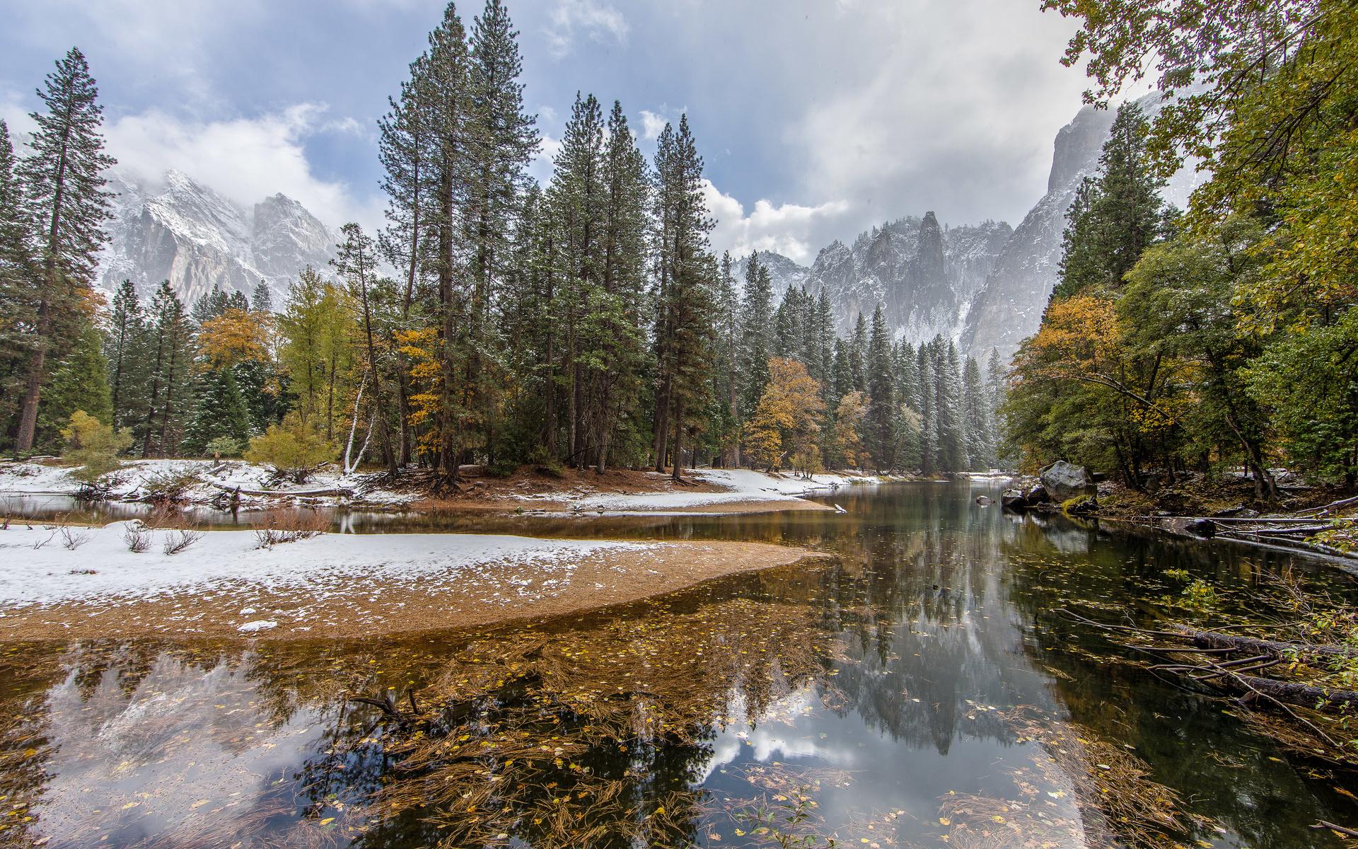 winter snow lake mountain - photo #49