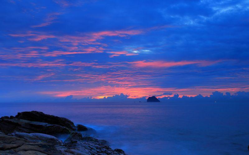 sea landscape night wallpaper
