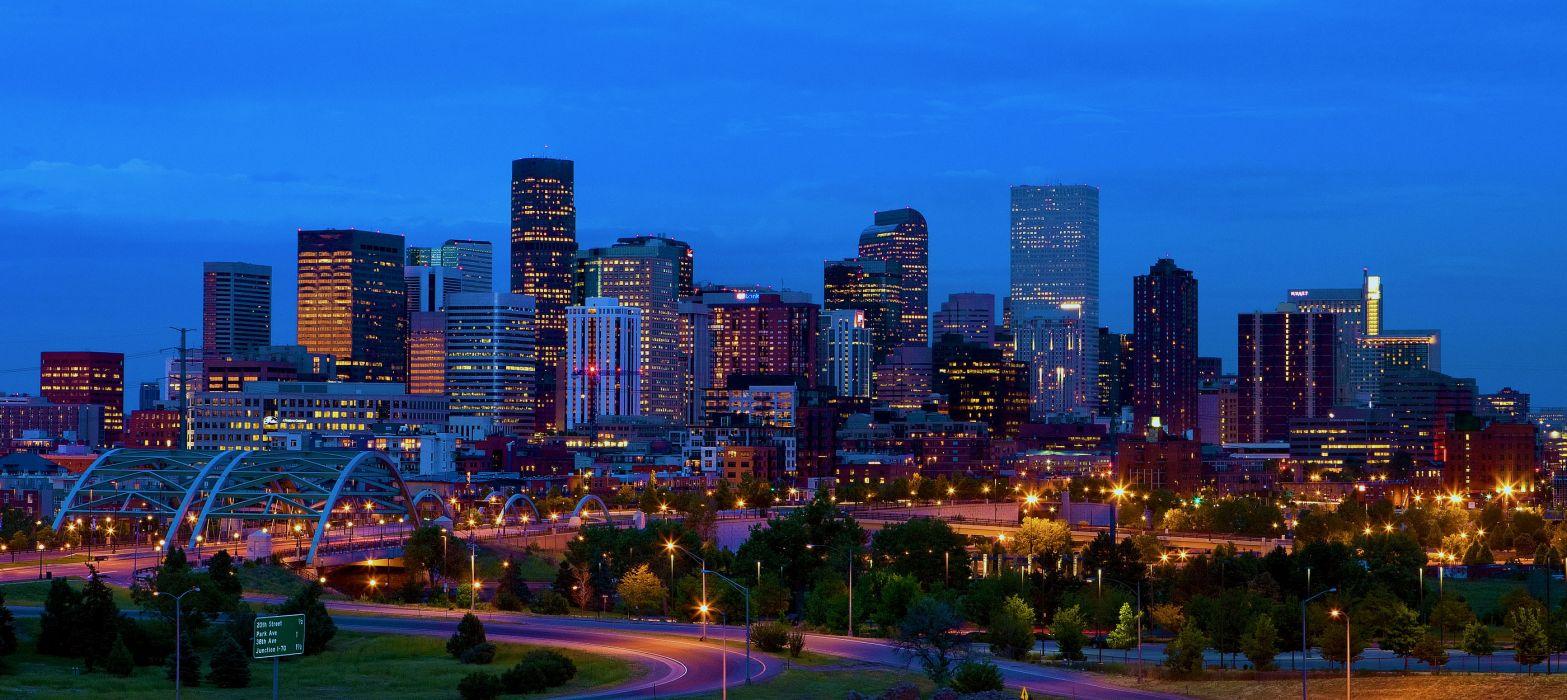 Usa Denver Colorado skyline wallpaper
