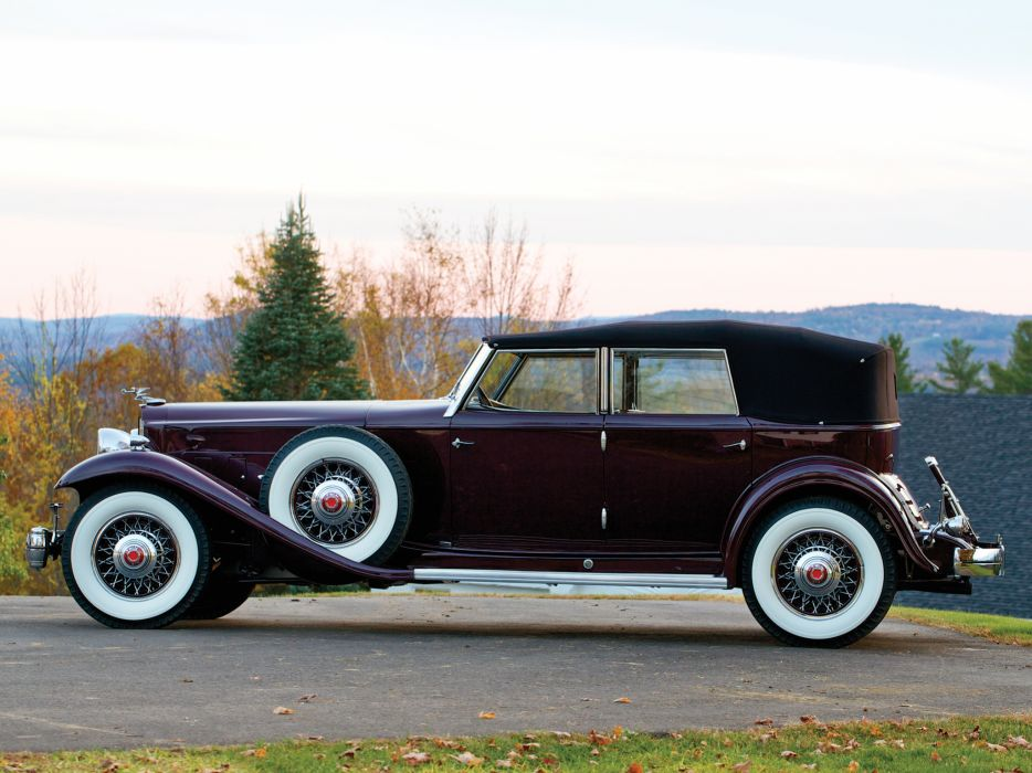 1932 Packard Twin Six Individual Custom Convertible Sedan by Dietrich luxury retro    r wallpaper