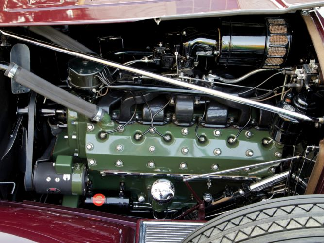 1932 Packard Twin Six Individual Custom Convertible Sedan by Dietrich luxury retro engine h wallpaper