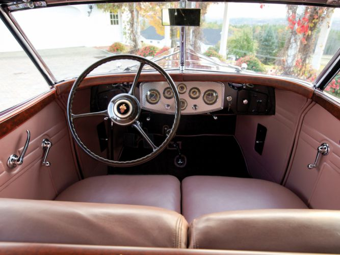 1932 Packard Twin Six Individual Custom Convertible Sedan by Dietrich luxury retro interior h wallpaper