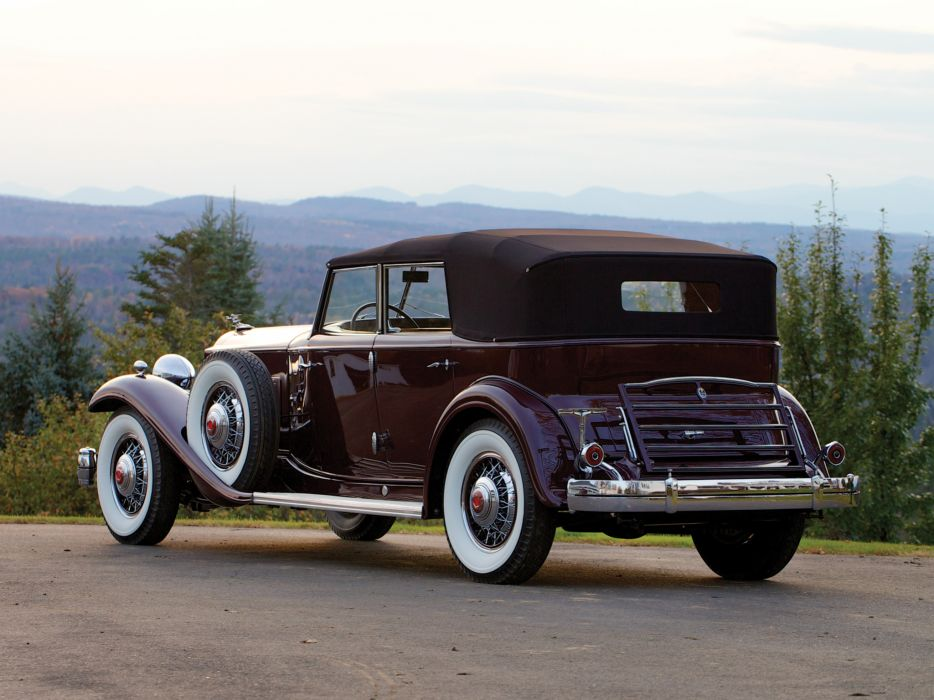 1932 Packard Twin Six Individual Custom Convertible Sedan by Dietrich luxury retro wallpaper