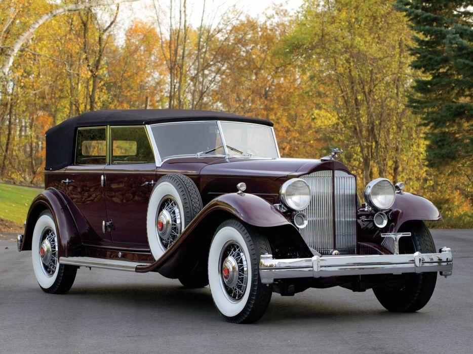 1932 Packard Twin Six Individual Custom Convertible Sedan by Dietrich luxury retro   t wallpaper