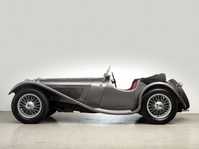 1936 Jaguar SS 100 Roadster retro s-s t wallpaper