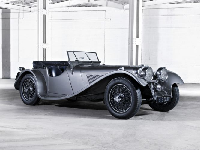 1936 Jaguar SS 100 Roadster retro s-s t wallpaper