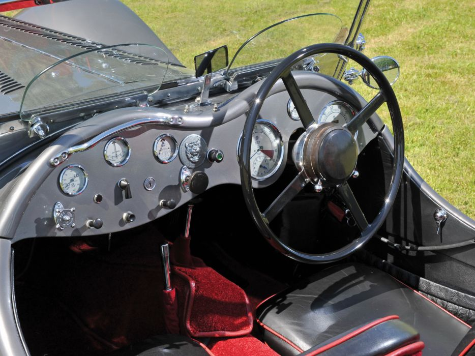 1936 Jaguar SS 100 Roadster retro s-s interior  e wallpaper