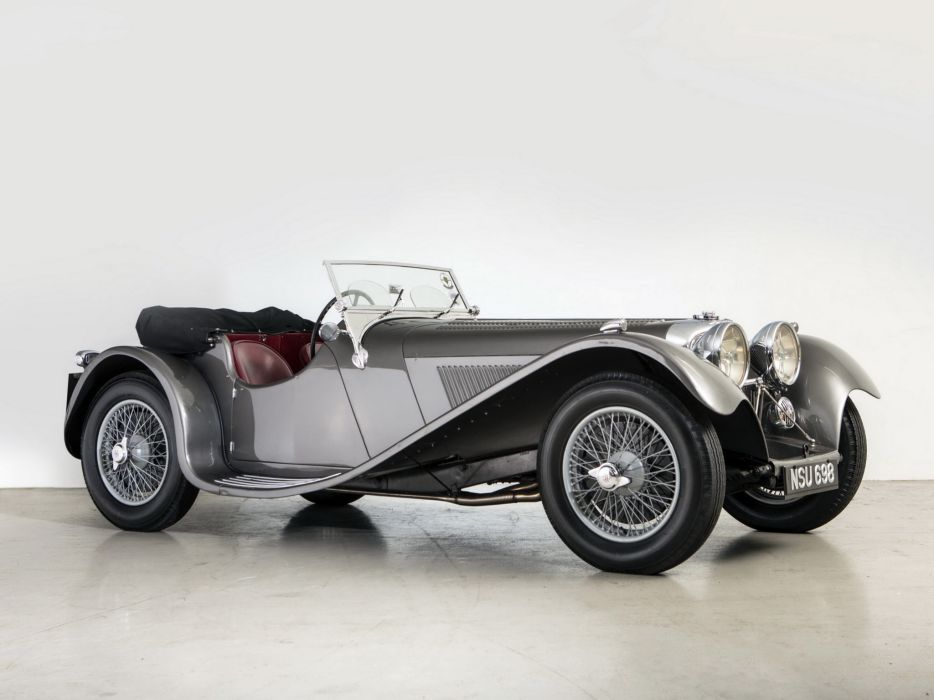 1936 Jaguar SS 100 Roadster retro s-s  f wallpaper