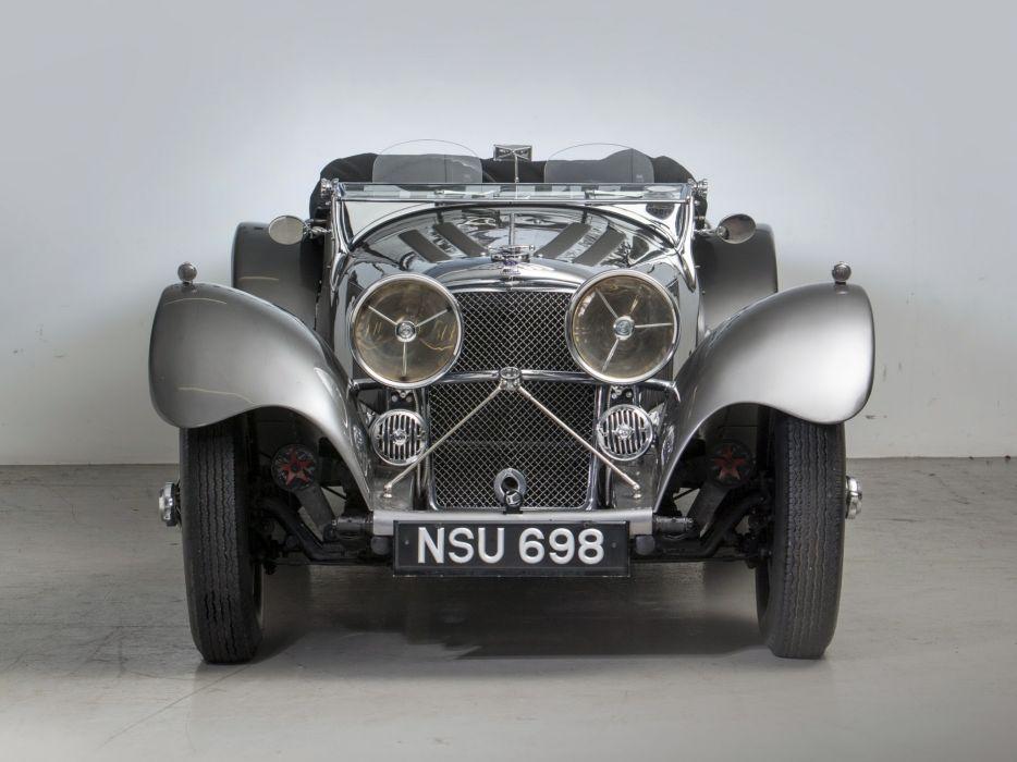 1936 Jaguar SS 100 Roadster retro s-s  e wallpaper