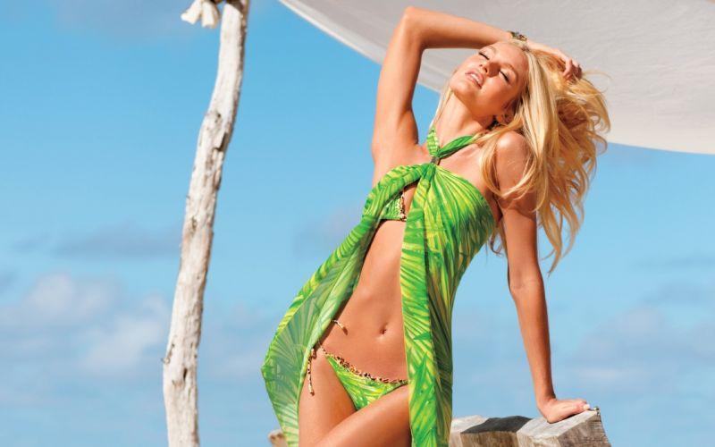 Candice Swanepoel Belly Blonde girl Girls wallpaper