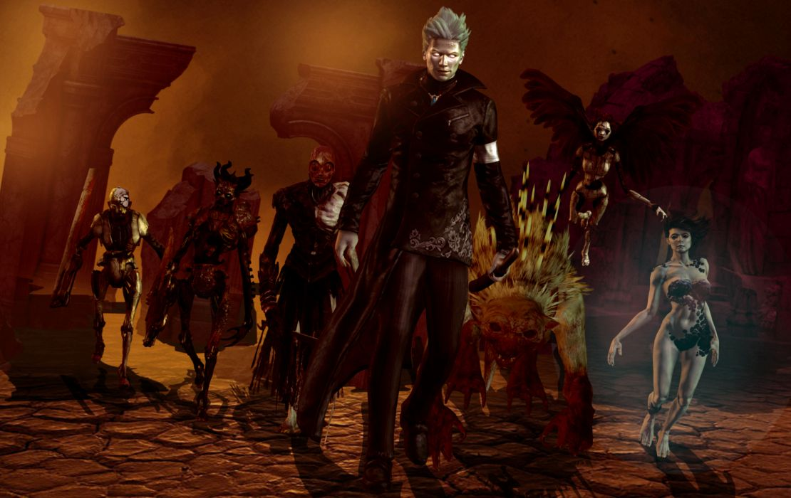 Devil May Cry Monster Demon Men Undead Games 3D Graphics Fantasy dark wallpaper
