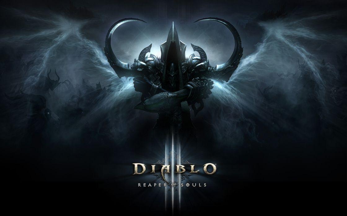 Diablo III Demon Wings Horns Games Fantasy warrior wallpaper