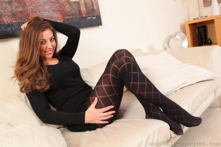 Emma Watts Pantyhose Legs Brown haired Girls wallpaper
