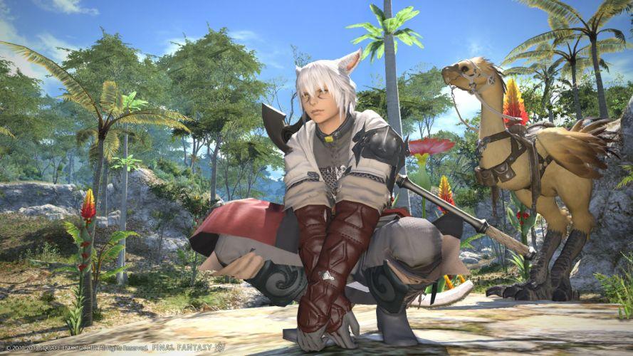 Final Fantasy XIV Magical animals Guys Games 3D Graphics wallpaper